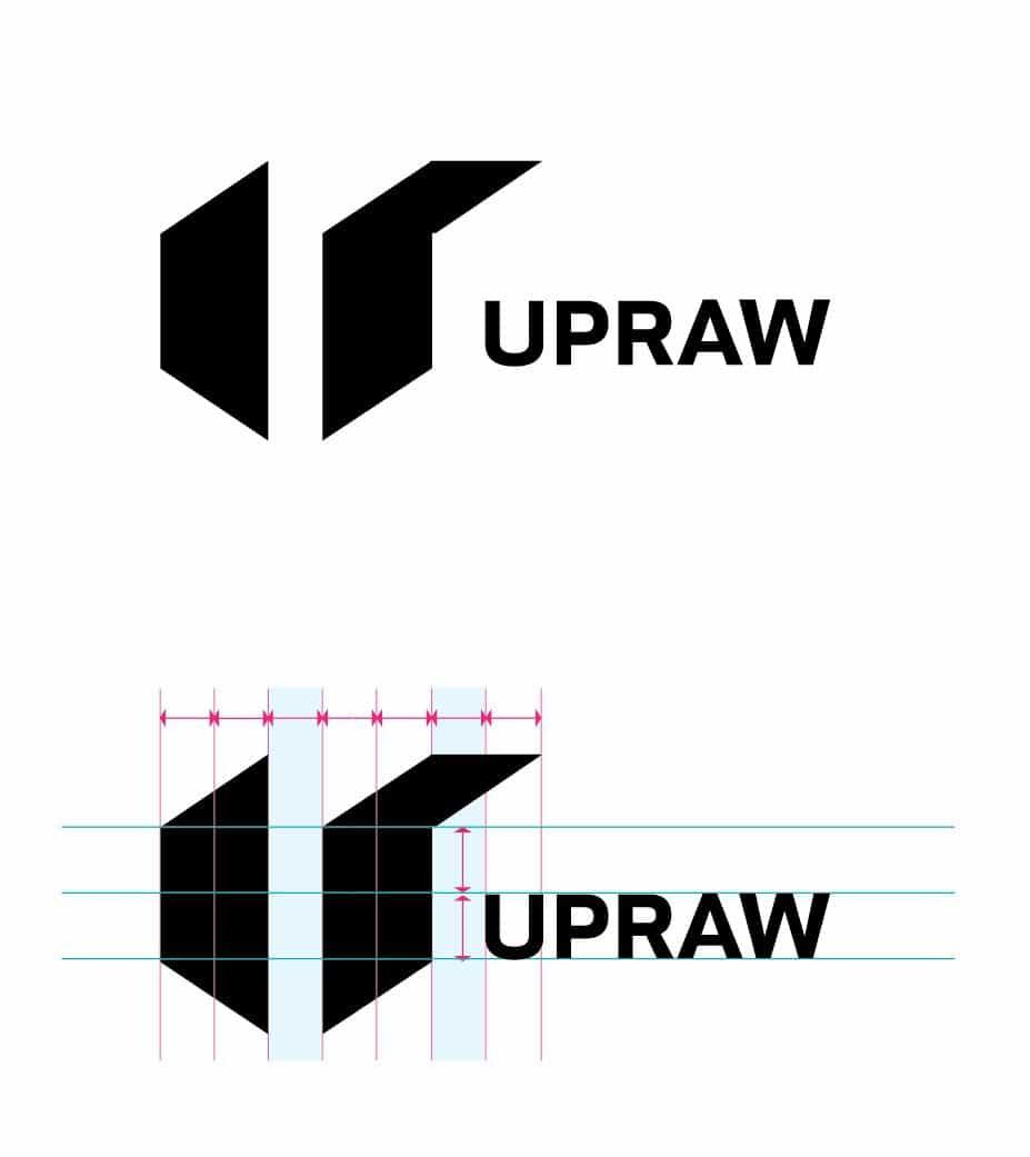 upraw logo design