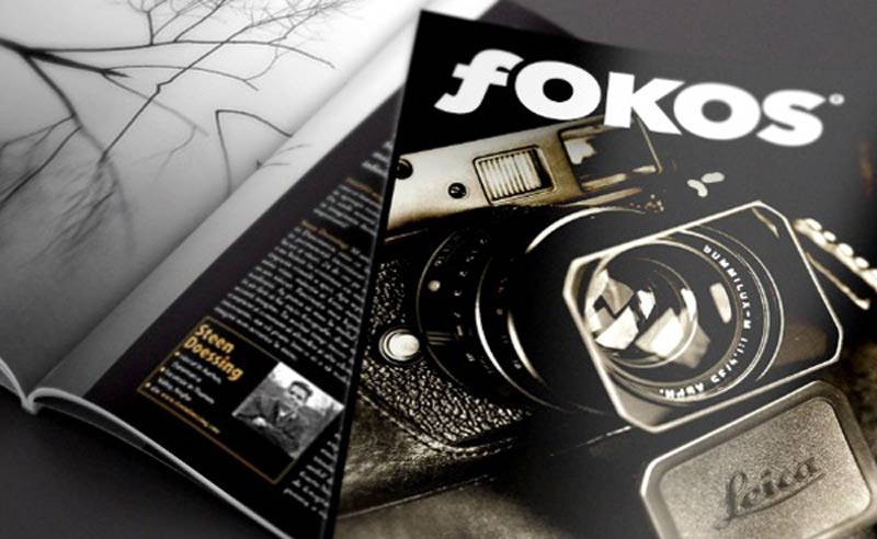 fOKOS Photography Magazine Logo mock-up