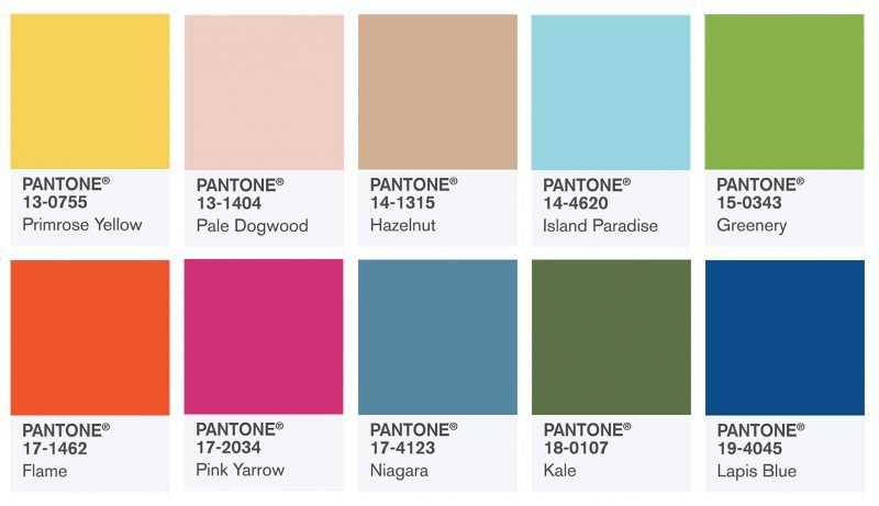 pantones top 10 colours spring 2017