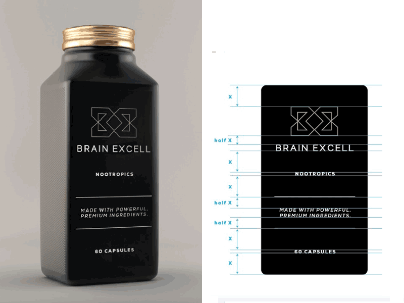 Brain-Excell-NOOTROPICS-Logo-design