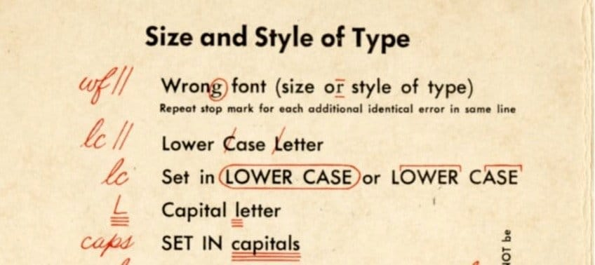 Proofreading Marks that May Interest Graphic Designers