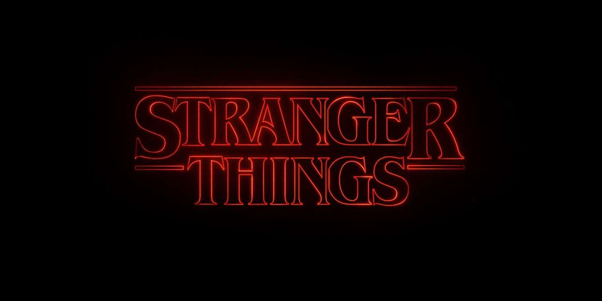 the typography of stranger things