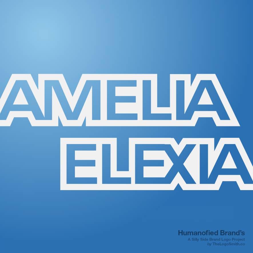 Humanofied-Brands-Amelia Elexia-logo-vs-American Express-logo