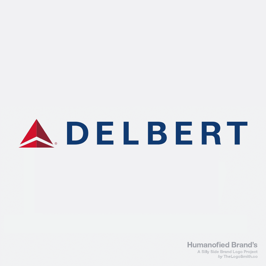 Humanofied-Brands-Delbert-vs-Delta-Airlines-Logo