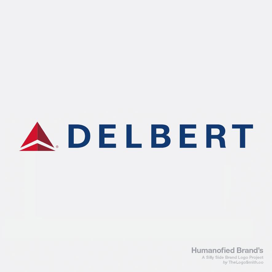 Humanofied-Brands-Delbert-vs-Delta-Airlines-Logo