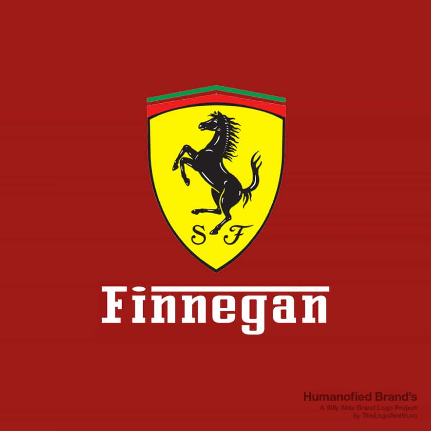 Humanofied-Brands-Finnegan-vs-Ferrari-Logo