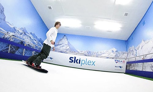 Skiplex Indoor Skiing Center logo & Brand Identity design