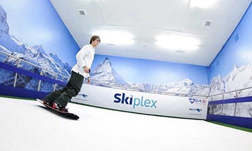 Skiplex Indoor Skiing Center logo & Brand Identity design