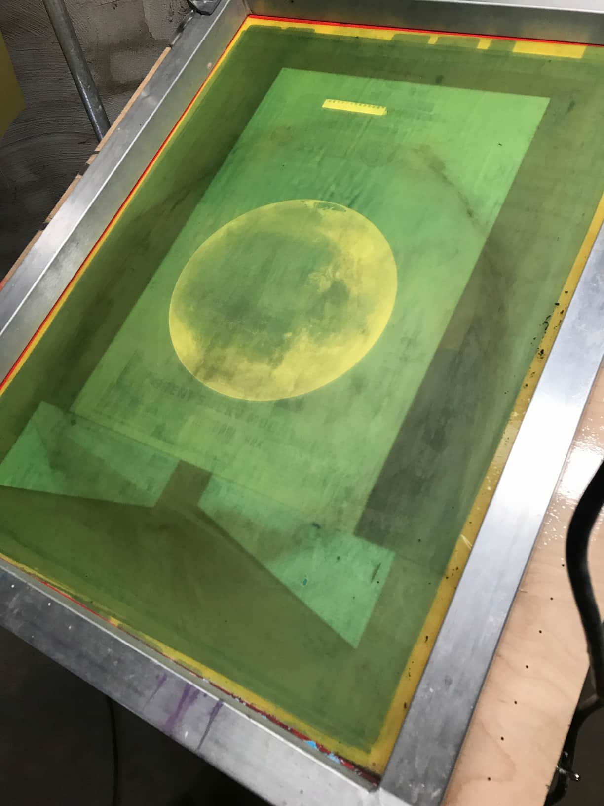 Mars Poster Printed on Sheet Metal with Rust by Barry Abrams