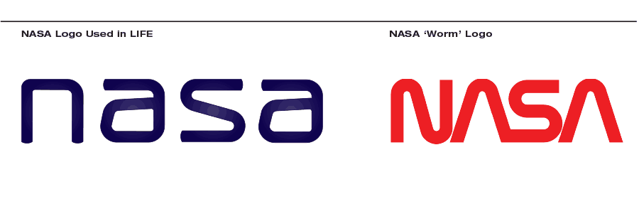 life nasa logo vs nasa worm logo