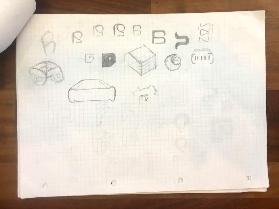 Pure Storage Logo Design Ideas and Sketches The logo design process