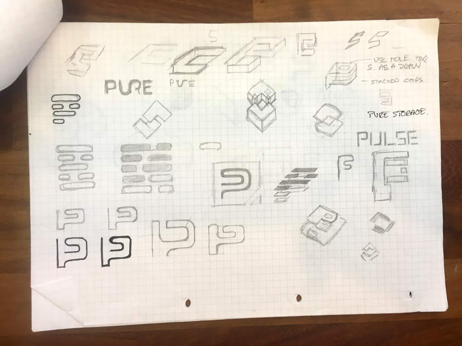 Pure Storage Logo Design Ideas and Sketches The logo design process