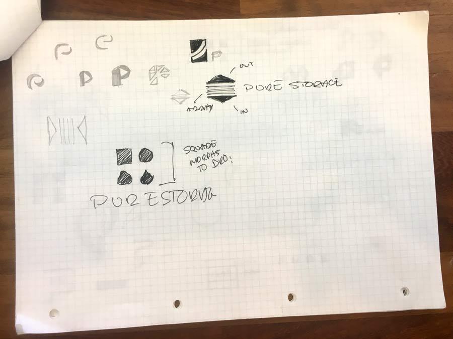 Pure Storage Logo Design Sketches The logo design process