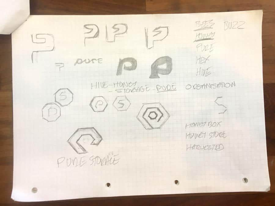 Pure Storage Logo Design Sketches The logo design process