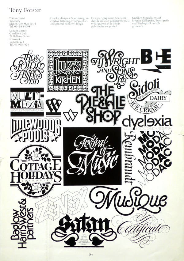 Tony Forster Logo Designs and Lettering Designs 4
