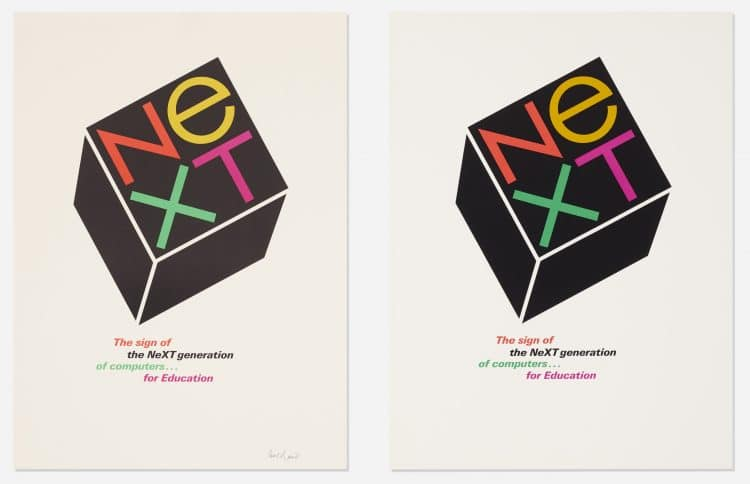 Paul Rand NeXT Logo Poster the art of design september 2018 paul rand next collection wright auction