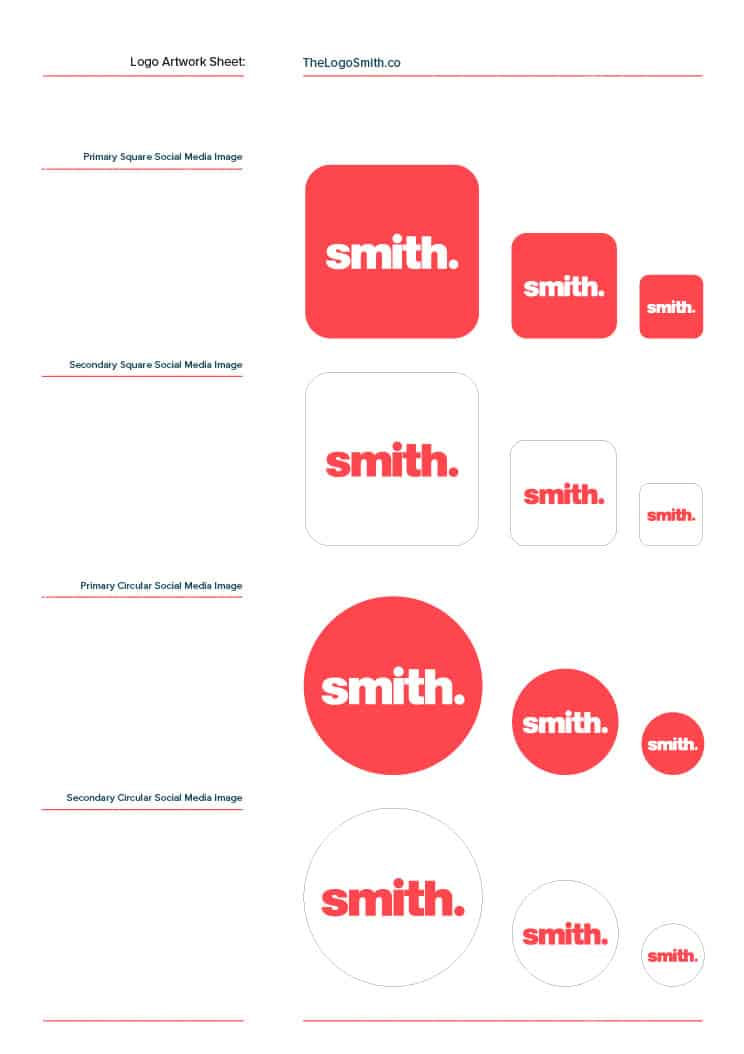 Logo Design Template for Download: 3 Page Master Logo Client Sheet
