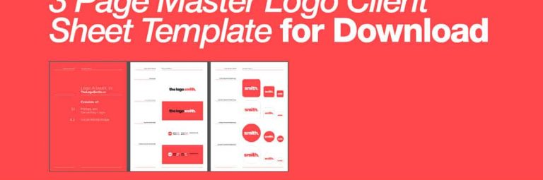 3 Page Master Client Logo Artwork Sheet Template for Download