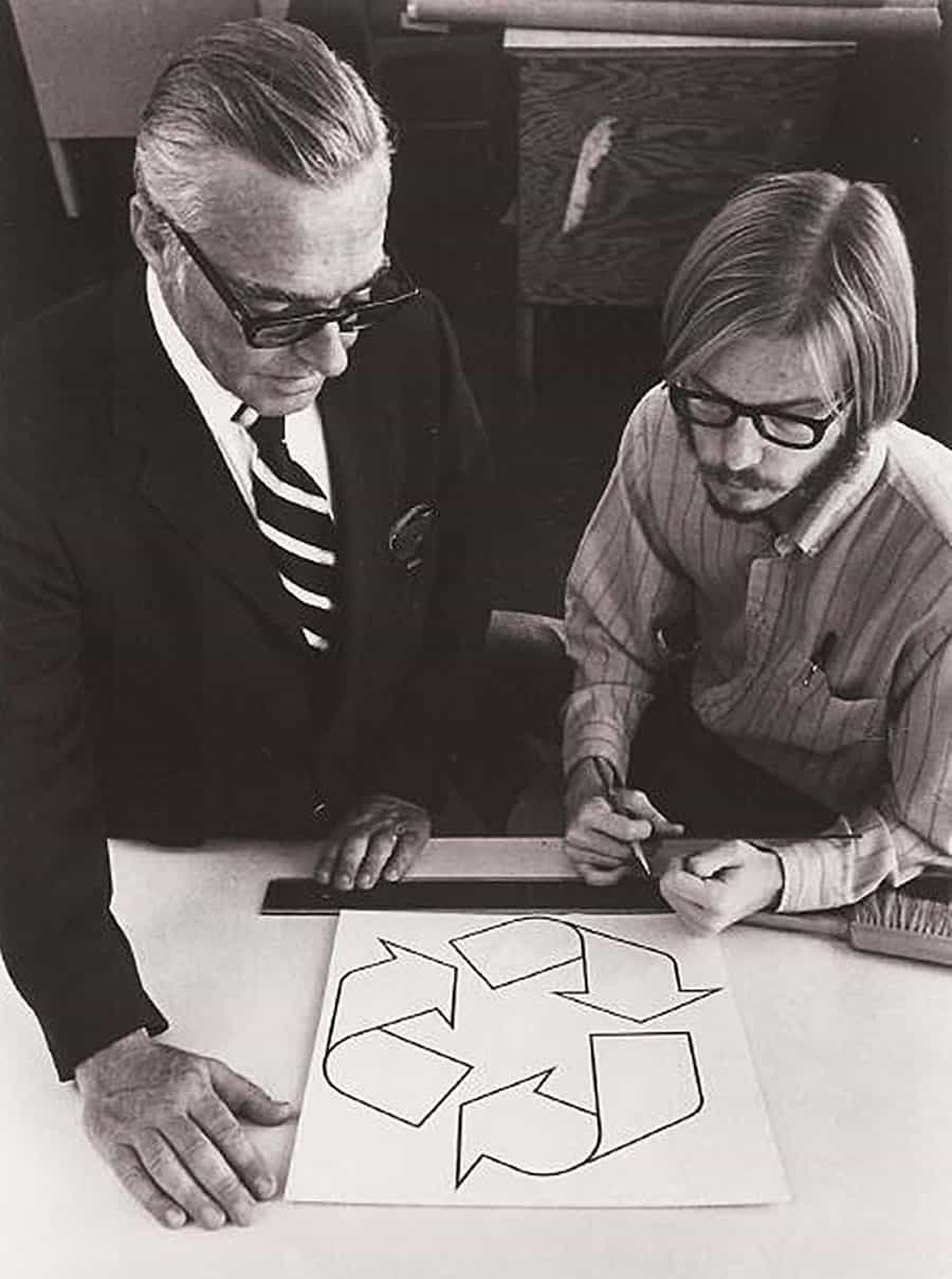 Gary Anderson, age 23, Designed the Recycling Logo for a Contest in 1970
