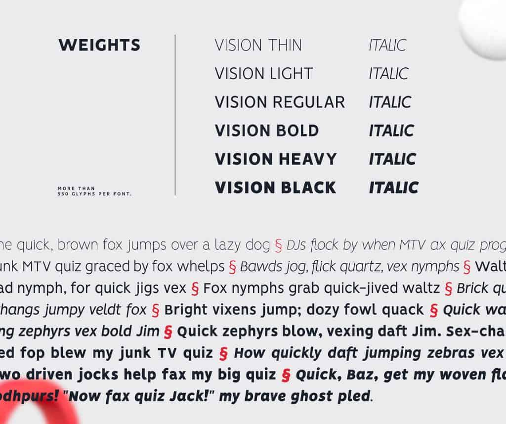 Vision free font family designed by Pixel Surplus and Bydani