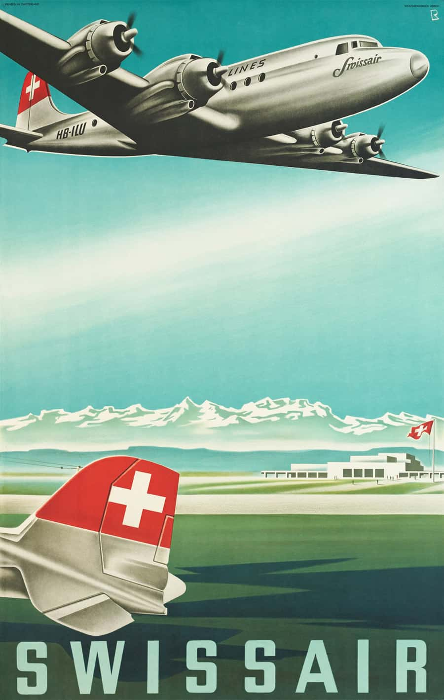 Original Vintage Swissair Poster Designs from Galerie123