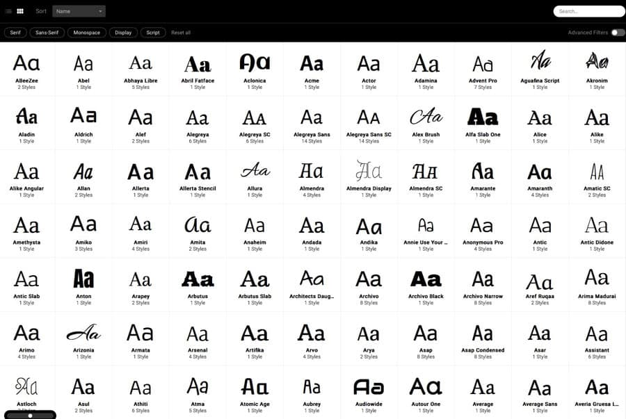 The Anatomy Of a Thousand Typefaces - A Typographic Experiment by @GetFlourish