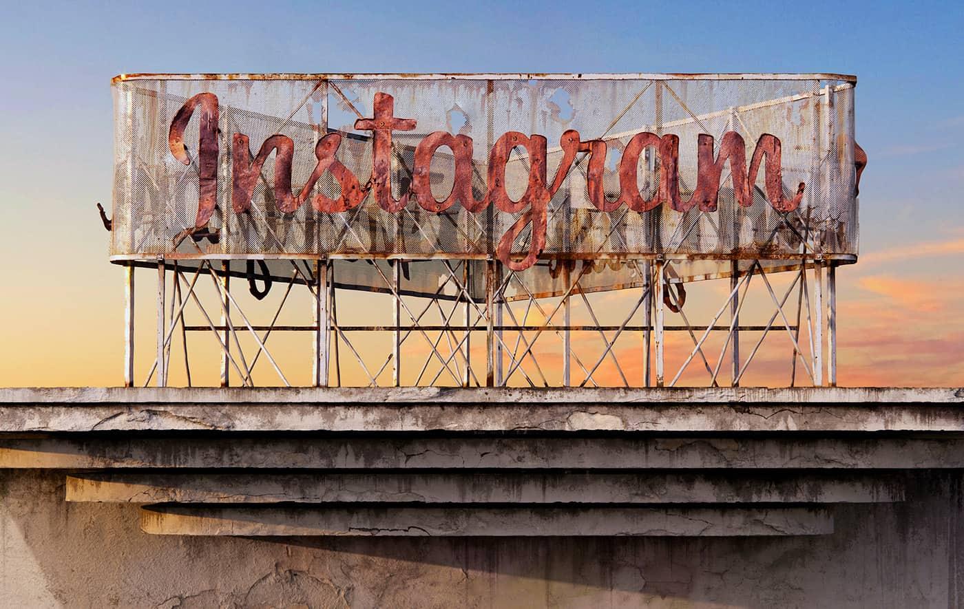 instagram social decay logo designed by Andrei Lacatusu