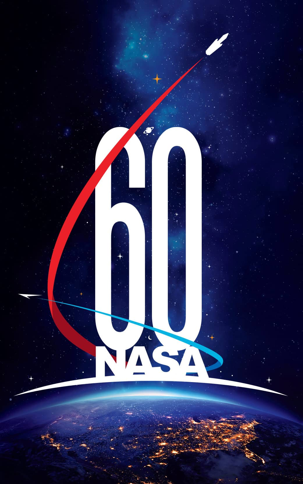 New nasa logo for upcoming 60th anniversary designed by matthew skeins the new nasa 60th anniversary logo designed by matthew skeins altavistaventures Image collections