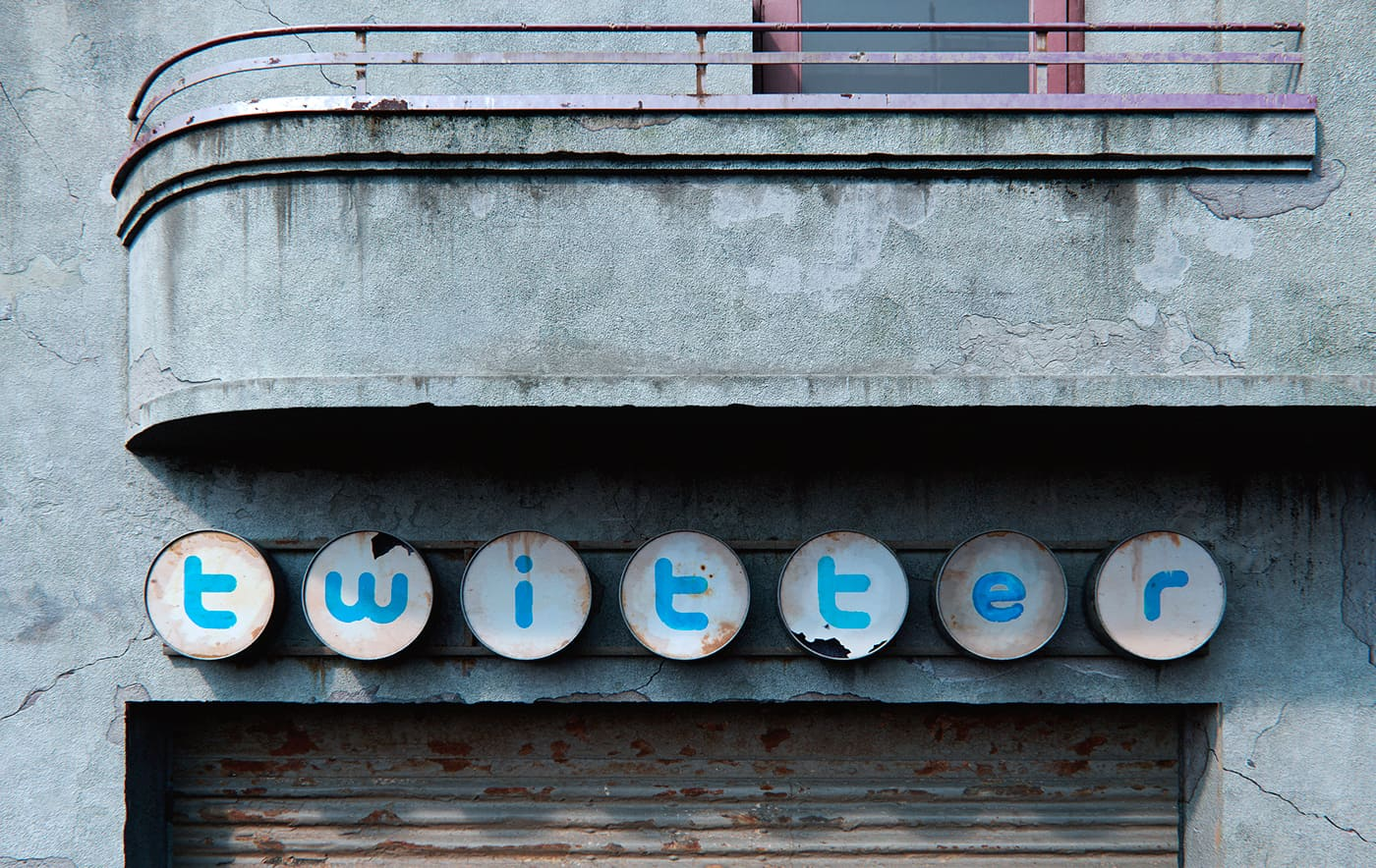 twitter social decay logo designed by Andrei Lacatusu