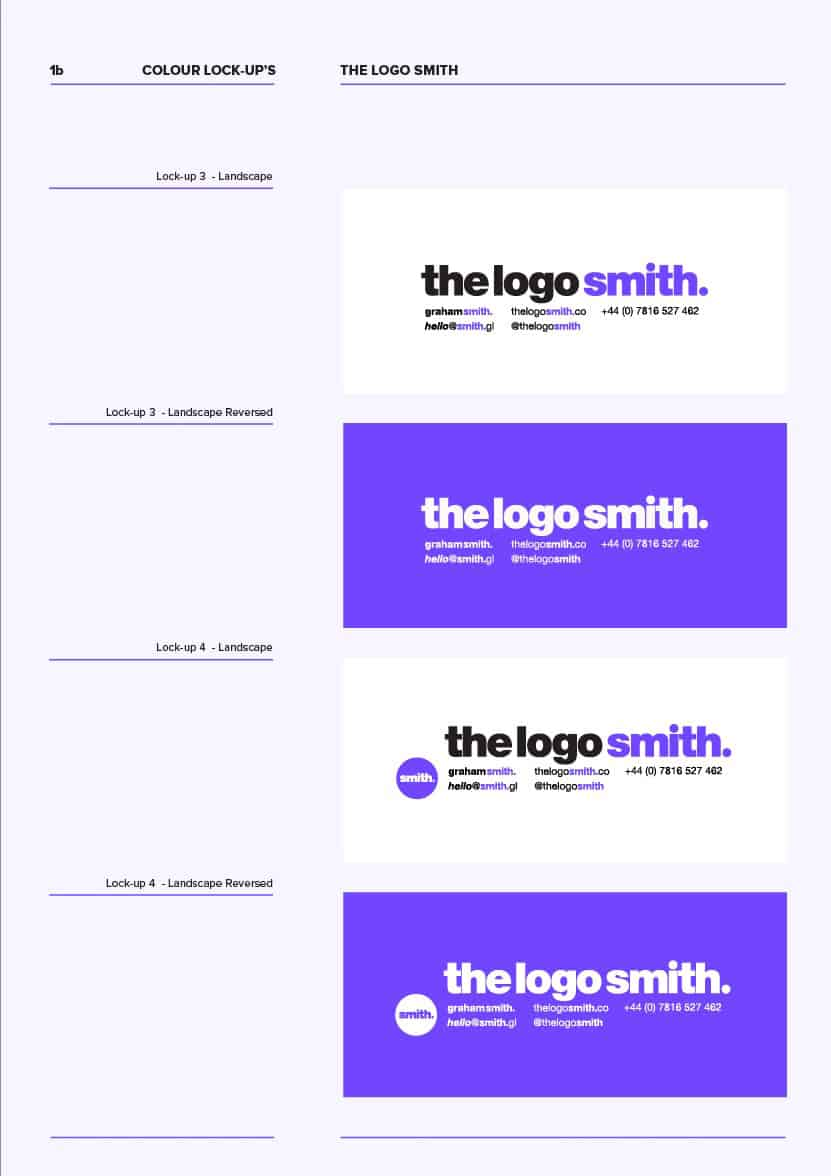 Brand Logo Specifications 10 Page Template for Download