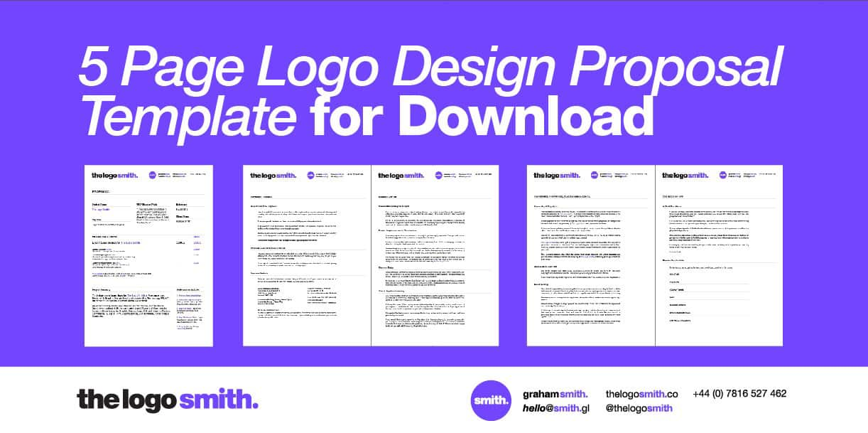 Logo Design Proposal 5 Page Template For