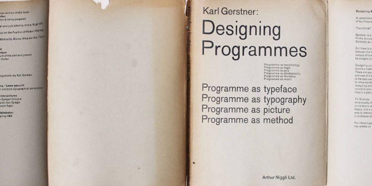 designing Programmes karl gerstner
