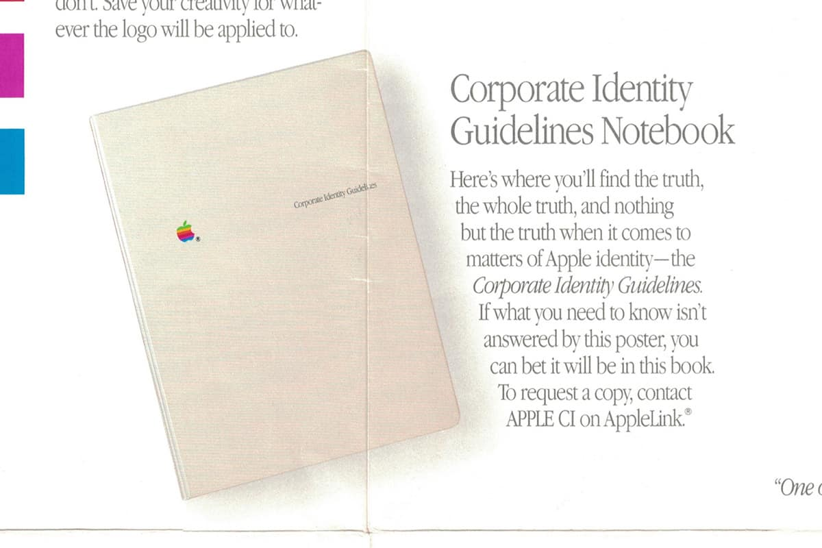 Apple Corporate Identity Guidelines Notebook