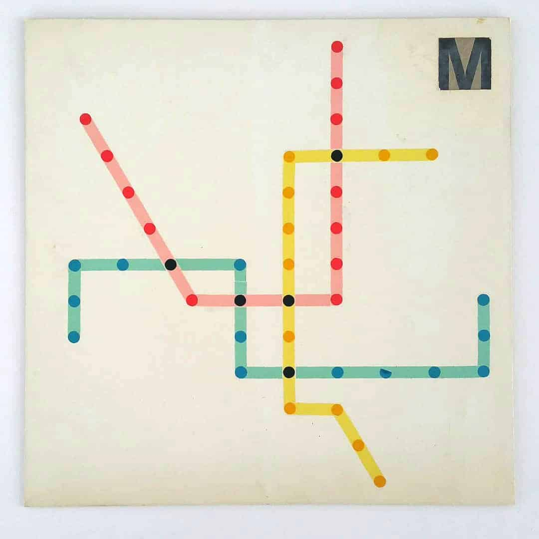 DC Metro Subway map designs Massimo Vignelli
