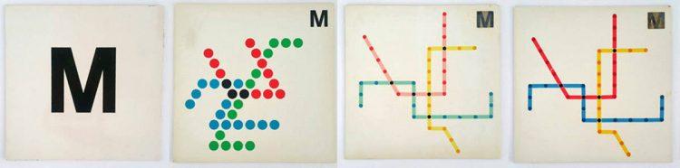 DC Metro Subway map designs Massimo Vignelli