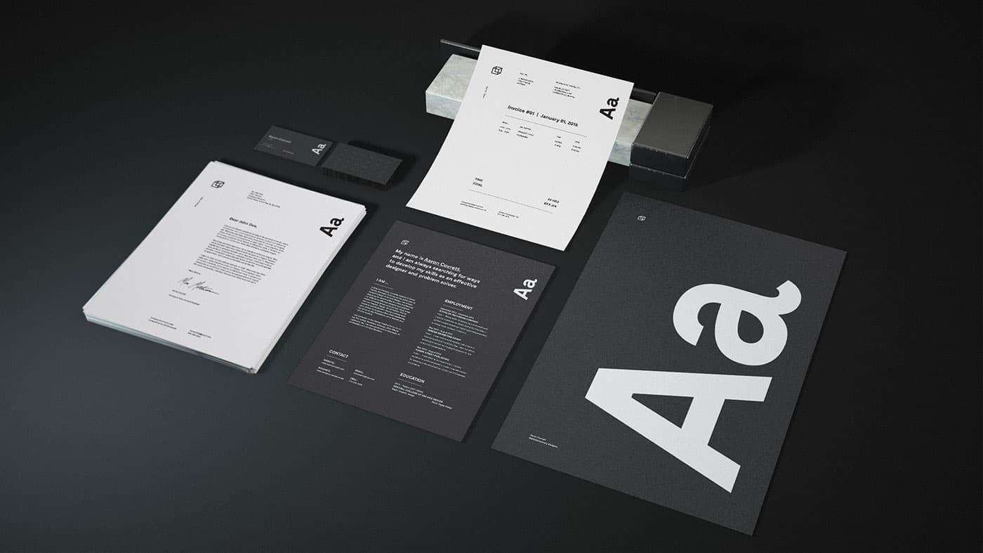 granite stationery mock up free brand identity mock up by aaron covrett