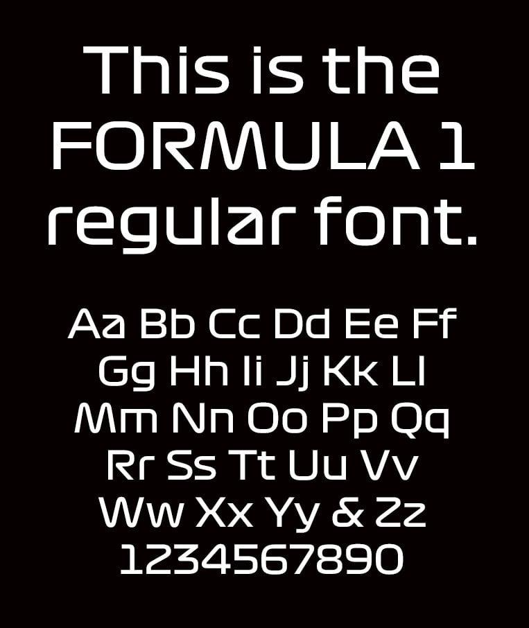 f1 font regular