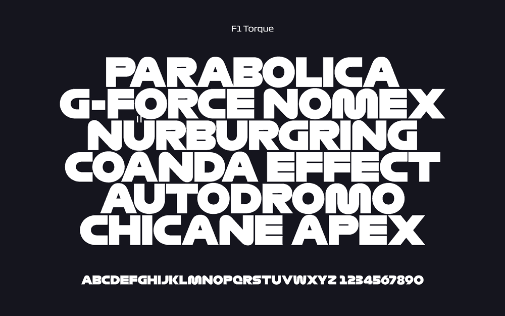 Formula 1 Fonts: Free Download of F1 Regular, F1 Turbo and