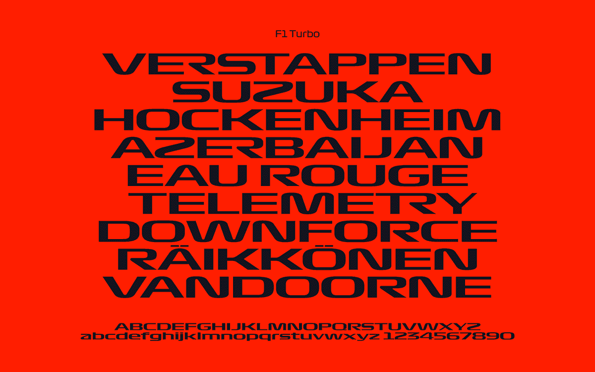 f1 turbo typeface font download