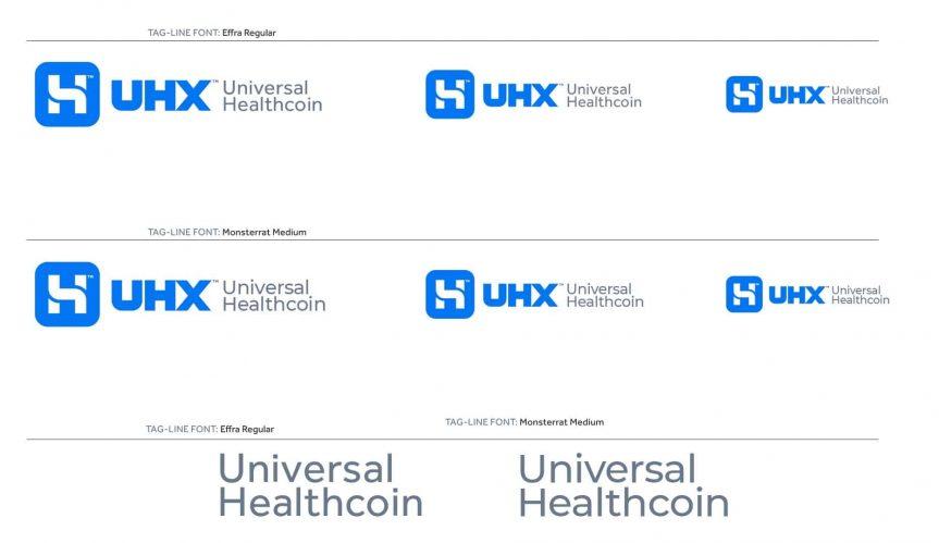 UHX Universal Healthcoin Logo Brand Identity