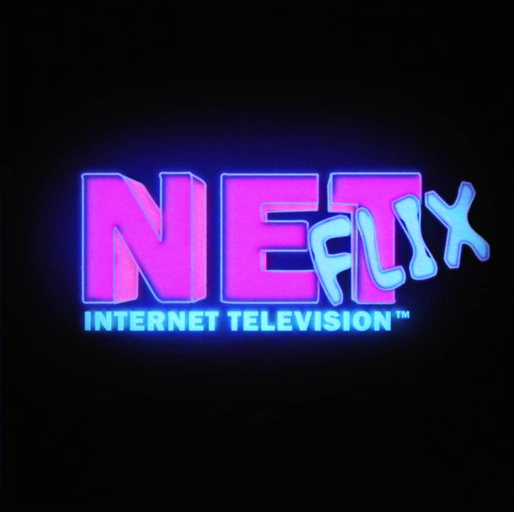 Netflix logo Retro Design