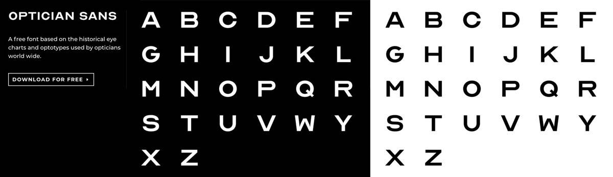 OPTICIAN SANS A Free Font Based on Optical Eye Charts and