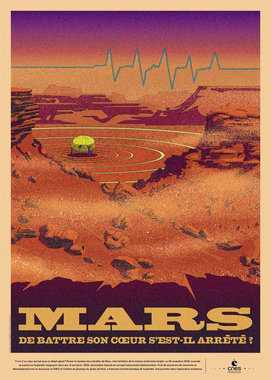Retro-Futuristic Space Posters for CNES Designed by Thomas Hayman