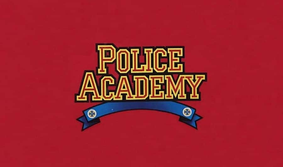 police-adademy-80s-action-figure-brand-logo-design