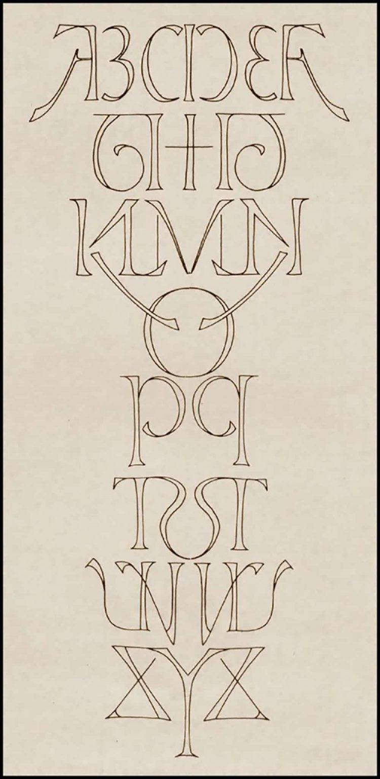 Alphabet Ambigram Designed by Scott Kim