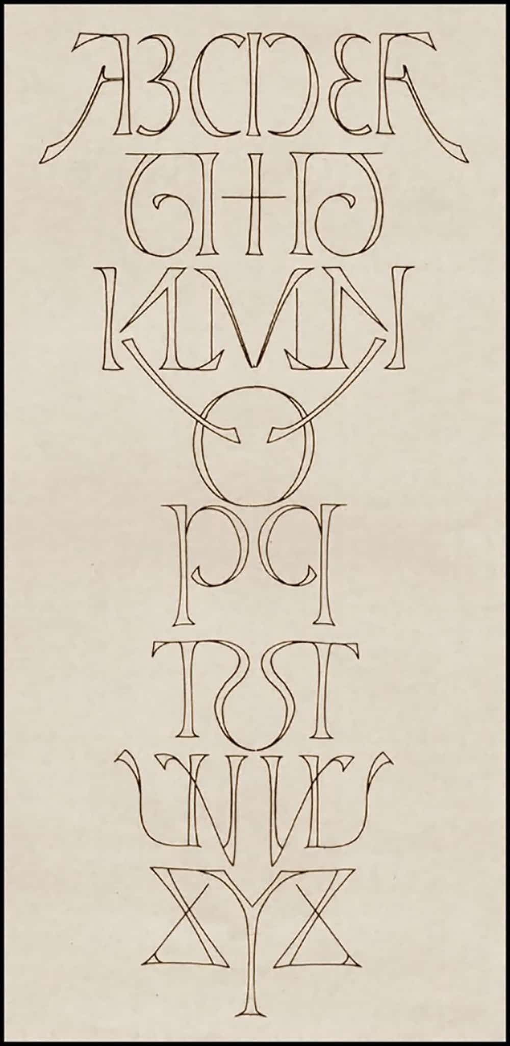Alphabet Ambigram Designed by Scott Kim