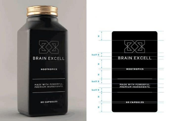 BrainExcell NOOTROPICS Packaging Design