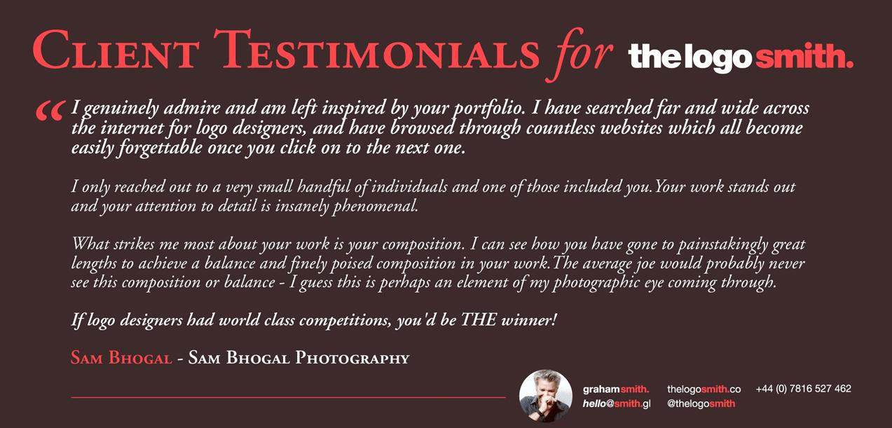 Client Testimonials for Logo Design