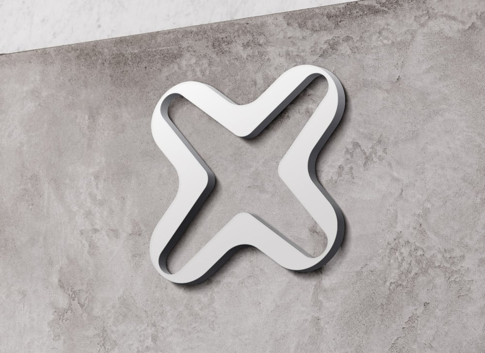 Internxt Raised Wall Sign Light