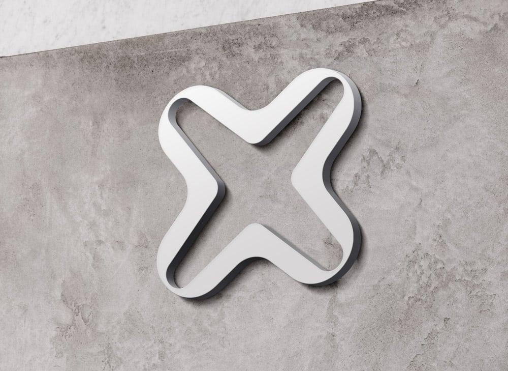 Internxt Raised Wall Sign Light